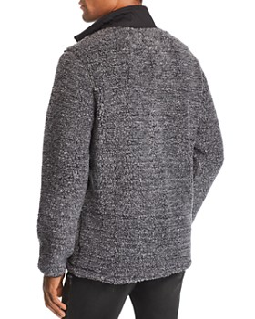 Pacific & Park - Mixed-Media Pullover Sherpa Jacket - 100% Exclusive