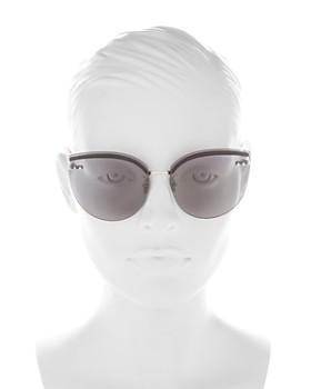 Bottega Veneta - Women's Rimless Cat Eye Sunglasses, 62mm