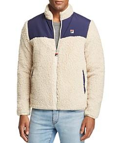 FILA - Tonetto Mixed-Media Color-Block Sherpa Jacket