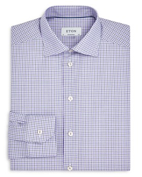 Eton - Checked Regular Fit Dress Shirt