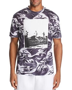 McQ Alexander McQueen Wave-Print Graphic Tee