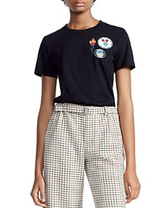 Maje - Thimothe Embroidered Patches Tee