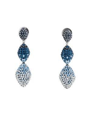ATELIER SWAROVSKI Moselle Detachable Drop Earrings in Blue/Silver