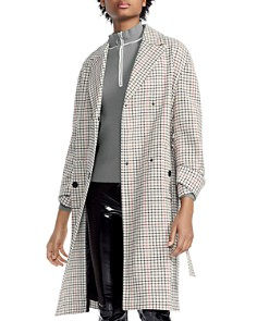 Maje - Gessia Checked Trench Coat