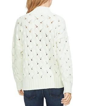 VINCE CAMUTO - Texture-Stitch Mock Neck Sweater