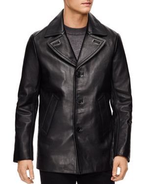 Sandro Donnie Leather Coat
