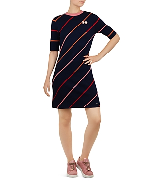 Ted Baker COLOUR BY NUMBERS PELINOR STRIPED KNIT DRESS