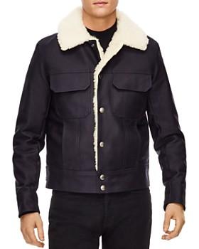 Sandro - Faux Shearling Trucker Jacket