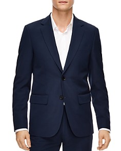 Sandro - Blue Virgin Wool Slim Fit Sport Coat