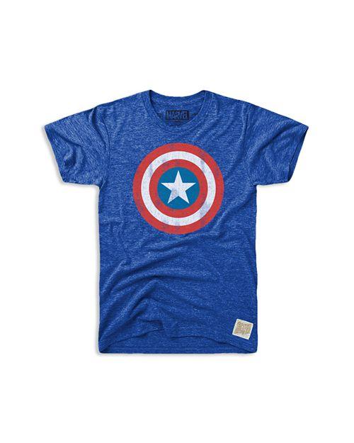 Retro Brand - Boys' Captain America Tee - Little Kid