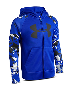 Under Armour Boys' Shattered Big Logo Hoodie - Little Kid