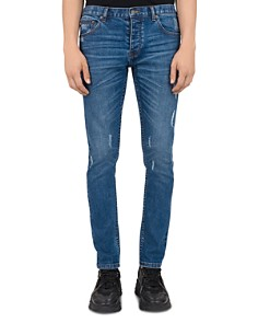 The Kooples - Japanese Denim Skinny Jeans in Blue Denim
