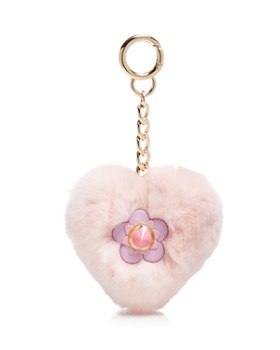 Maximilian Furs - Rabbit Fur Heart Keychain - 100% Exclusive