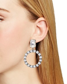 AQUA - Crystal Circle Drop Earrings - 100% Exclusive