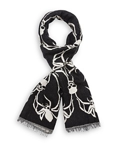The Kooples - Skull-Spider Scarf