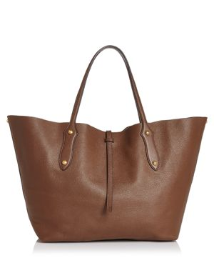 ANNABEL INGALL Isabella Large Leather Tote in Brown/Gold