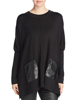 Donna Karan - Faux-Leather Pocket Tunic