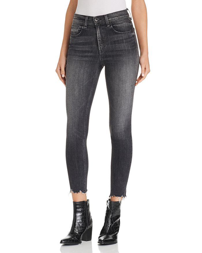 Rag Bone Jean High Rise Raw Edge Cropped Skinny Jeans In Brandi