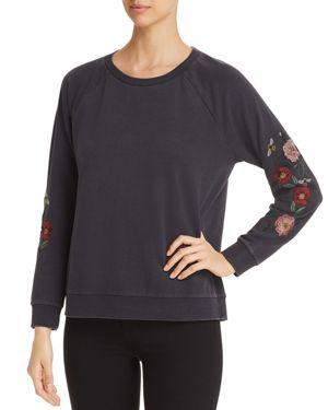 BILLY T Embroidered Sweatshirt in Black