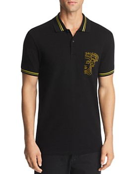 Versace Collection - Dotted Logo-Pocket Polo Shirt