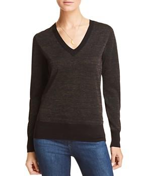 Scotch & Soda - Metallic V-Neck Sweater