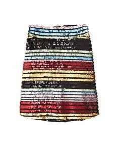 Miss Behave - Girls' Sarah Rainbow Sequin Skirt - Big Kid