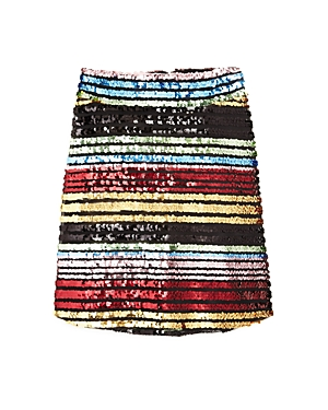 Miss Behave Girls' Sarah Rainbow Sequin Skirt - Big Kid