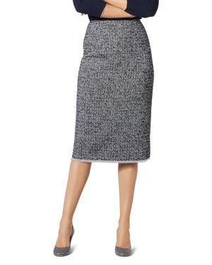 Char Tweed Pencil Skirt, Blue Multi