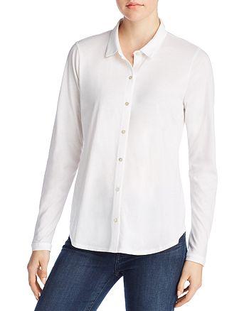 Eileen Fisher Petites - Organic Cotton Classic Collar Shirt