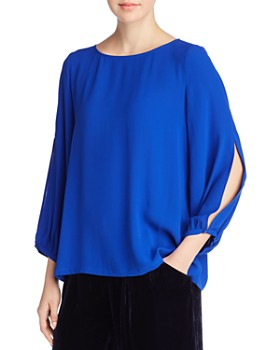 Eileen Fisher - Silk Slit-Sleeve Top