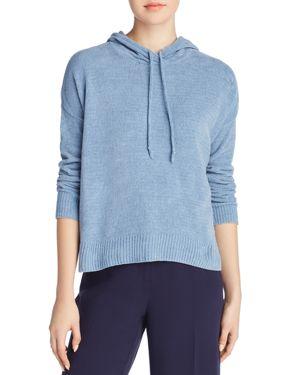 Chenille Hooded Sweater, Regular & Petite in Haze