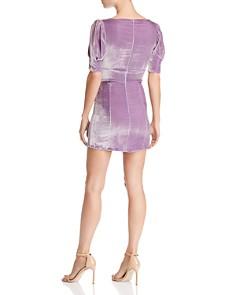 For Love & Lemons - Viva Plunging Velvet Mini Dress