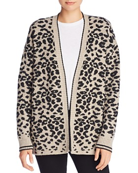 AQUA - Animal Knit Open Cardigan - 100% Exclusive