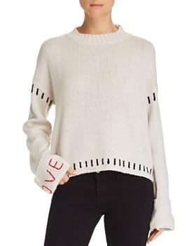 AQUA - Love-Embroidered Sweater - 100% Exclusive