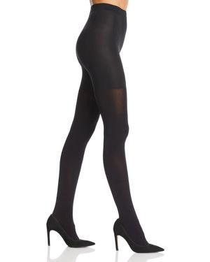 CALVIN KLEIN HOSIERY Hosiery Ultra Fit 80 Denier Opaque Shaper Tights in Black