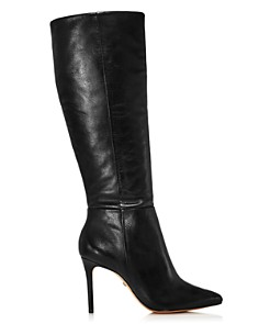 SCHUTZ - Women's Magalli Pointed Toe Tall Leather Boots