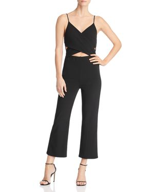 SUNSET & SPRING Sunset + Spring Crossover Cutout Jumpsuit - 100% Exclusive in Black
