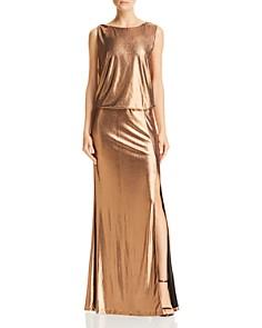 Rachel Zoe - Karen Metallic Open-Back Gown - 100% Exclusive