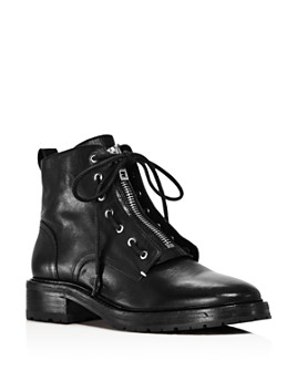 rag & bone - Women's Cannon Zip-Up Leather Boots