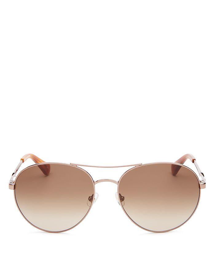kate spade new york - Women's Joshelle Brow Bar Aviator Sunglasses, 60mm