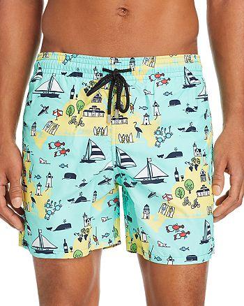 Vilebrequin - Moorea Martha's Vineyard-Print Swim Shorts