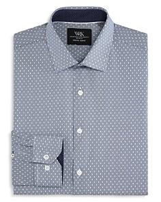 WRK - Stripe & Dot Slim Fit Dress Shirt