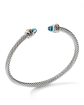 David Yurman - Renaissance Bracelet with Blue Topaz & 18K Yellow Gold