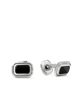 David Yurman - Deco Cufflinks with Black Onyx & Sterling Silver