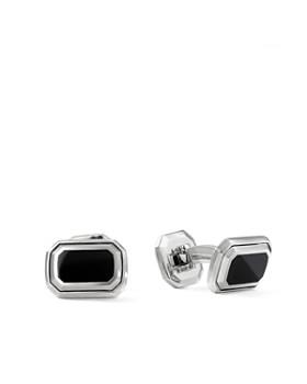 David Yurman - Deco Cufflinks with Black Onyx & Sterling Silver