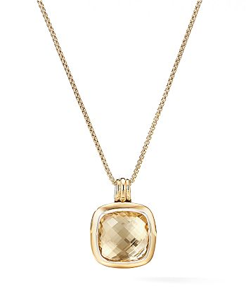David Yurman - Albion® Pendant with 18K Yellow Gold & Champagne Citrine