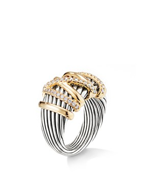 David Yurman - Helena Statement Ring with 18K Yellow Gold & Diamonds