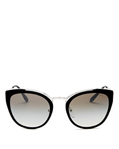 Prada - Women's Mirrored Cat Eye Sunglasses, 54mm