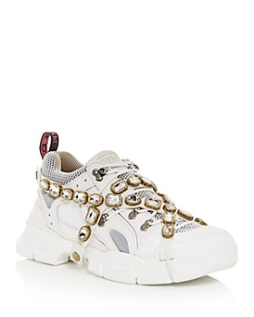 Gucci - Men's Flashtrek Removable Crystals Lace-Up Sneakers