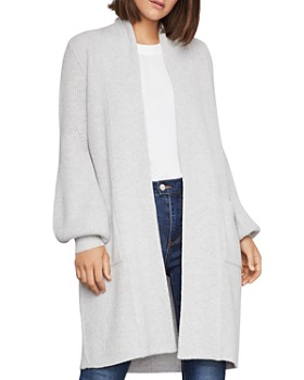 BCBGMAXAZRIA - Bishop-Sleeve Long Open Cardigan